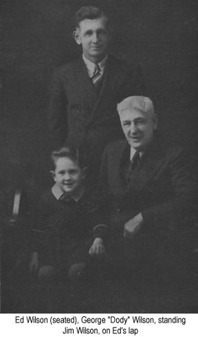 Black and white  photograph of Ed Wilson, George 'Dody' Wilson and Jim Wilson