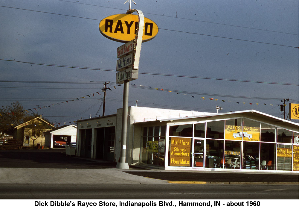 Dick Dibble's Rayco Store, Indianapolis Blvd., Hammond, IN - about 1960