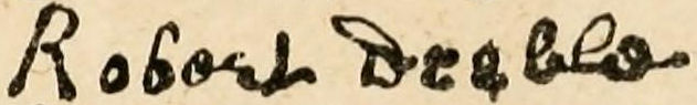 Robert Deeble's signature