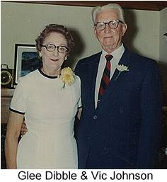 Color photo of Glee Dibble and Vic Johnson from their 50th. wedding anniversary