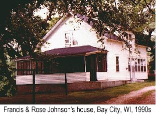 Color photo of the Francis and Rose Johnson house in Bay City, WI, in the 1990s