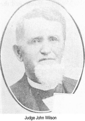 Black and white photo of Judge John Wilson, age about 50