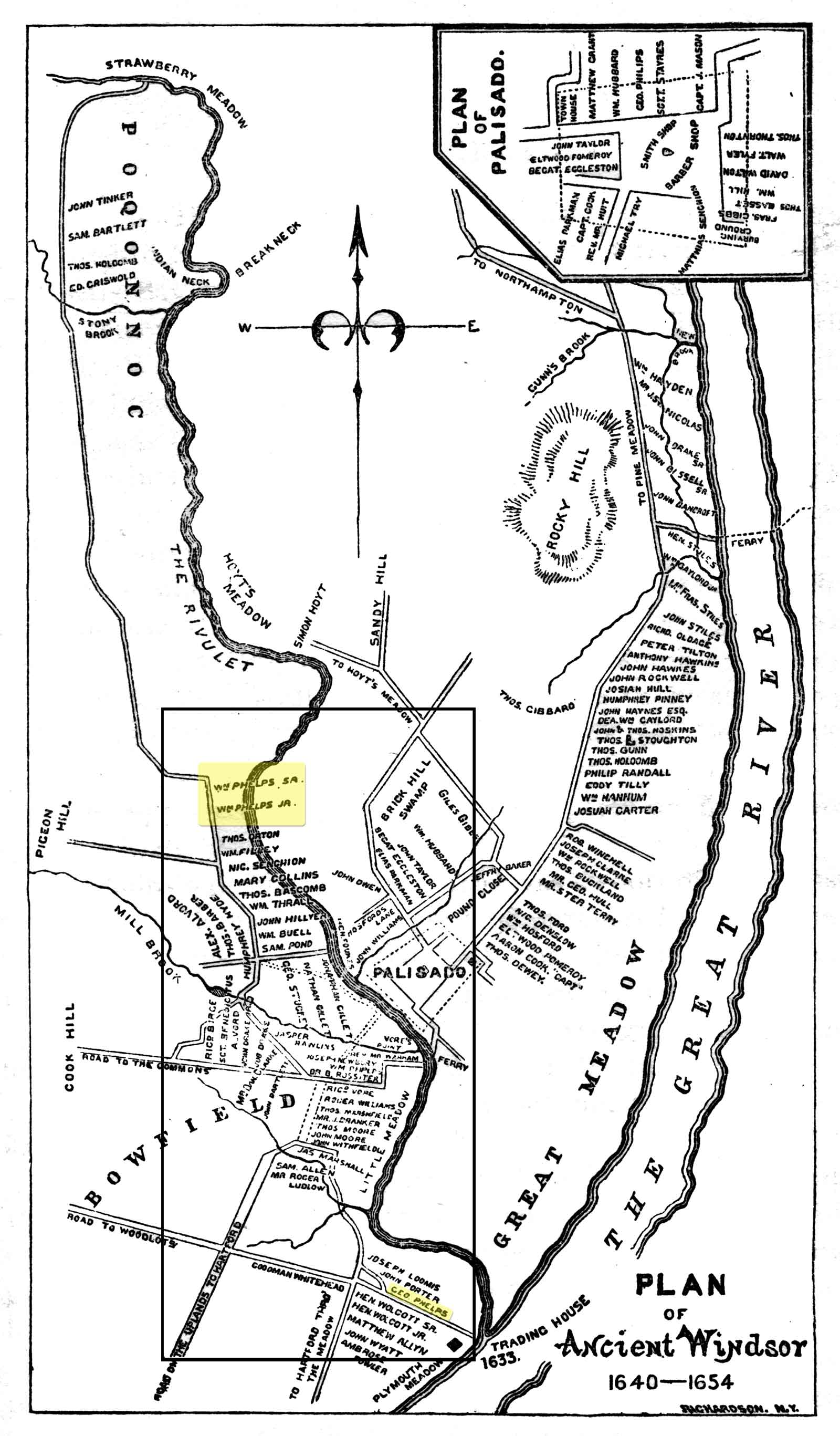 Map of 'Ancient Windsor' CT