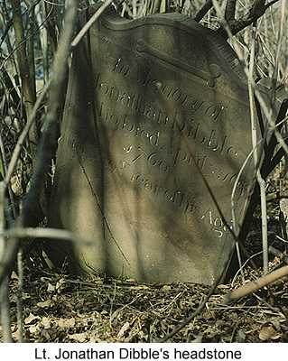 Color photo of Lt. Jonathan Dibble's headstone