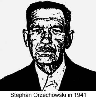 Photocopy of a black and white naturalization photo of Stephan Orzechowski in 1941